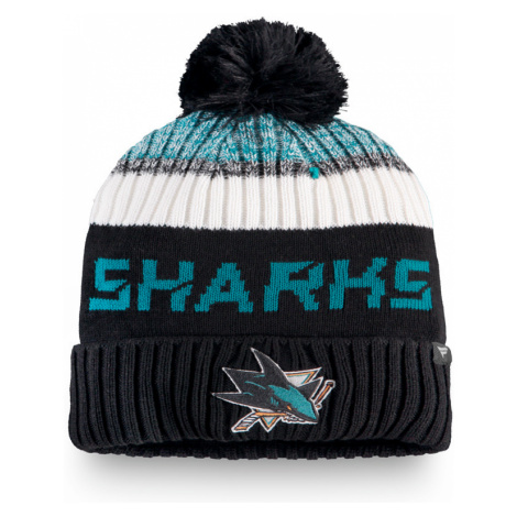 Čepice Fanatics Authentic Pro Rinkside Goalie Beanie Pom Knit NHL San Jose Sharks