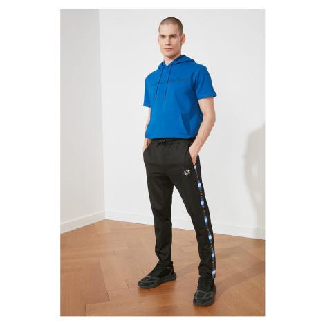 Trendyol Black Male Slim Fit Printed Tracksuit bottom
