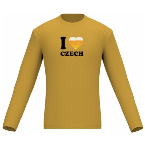 Pánské tričko dlouhý rukáv I love czech beer