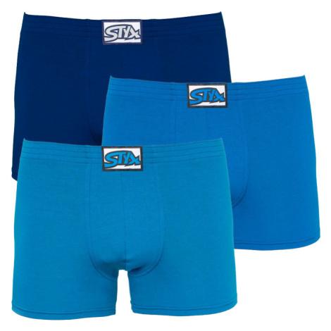 3PACK pánské boxerky Styx long klasická guma modré (F9676869)