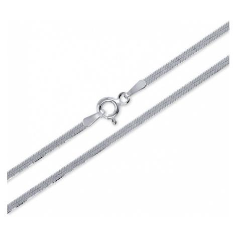 Brilio Silver Hladký stříbrný náramek cm 086 04