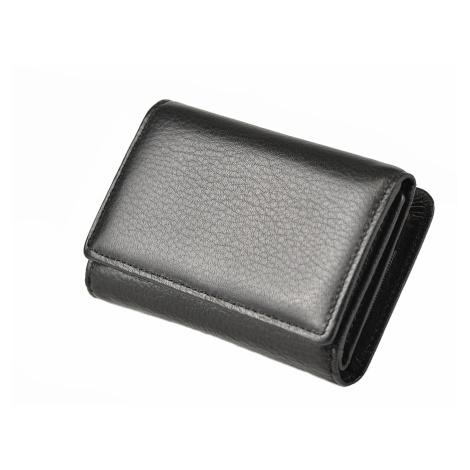 Dámská kožená peněženka na s barevným vnitřkem černá, 8 x 3 x 12 (SB00-CO519-09KUZ)