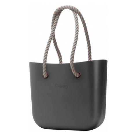O bag kabelka Grafite s provazovými držadly natural