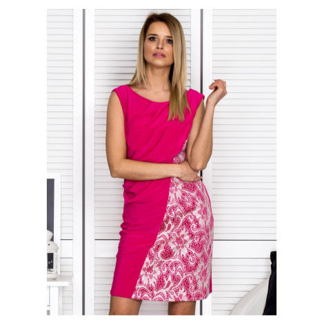 Pink cocktail dress with flowing front Fashionhunters