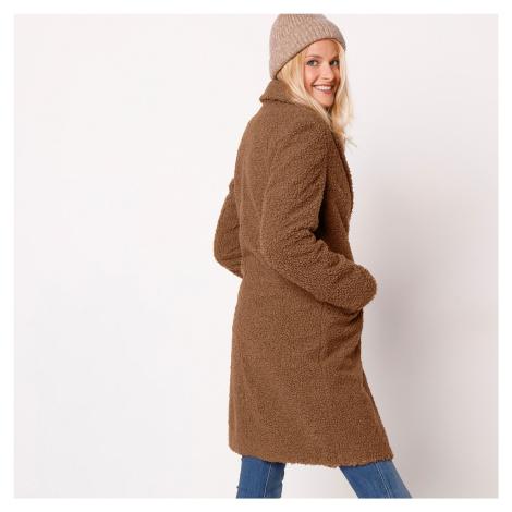 Blancheporte Buklé kabát karamelová