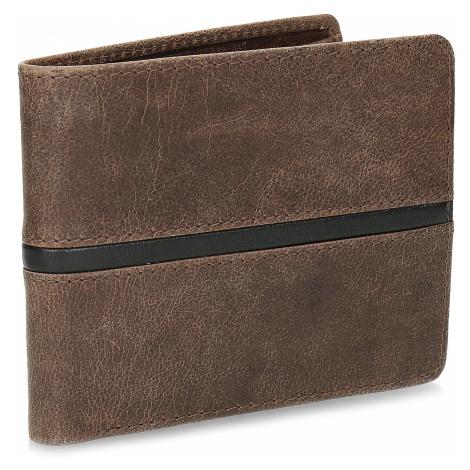 Hnědá pánská kožená peněženka Baťa