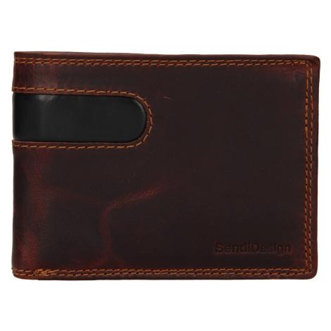 Pánská kožená peněženka SendiDesign Didier - hnědá Sendi Design