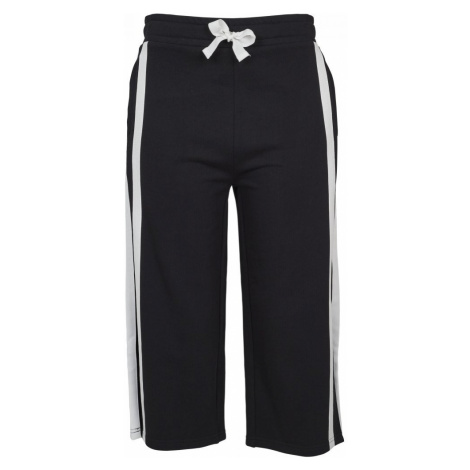 Ladies Taped Terry Culotte - black/white Urban Classics