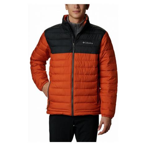 Bunda Columbia Powder ite™ Jacket M - oranžová/černá
