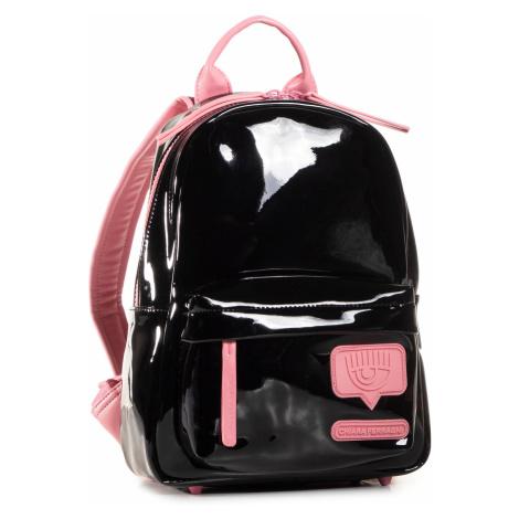 Černý lesklý batoh - CHIARA FERRAGNI
