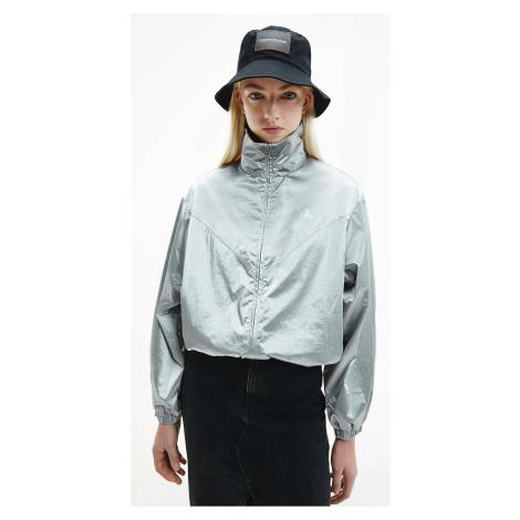 Calvin Klein dámská stříbrná bunda