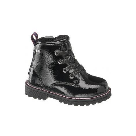 Černá dětská šněrovací obuv se zipem Tom Tailor s TEX membránou