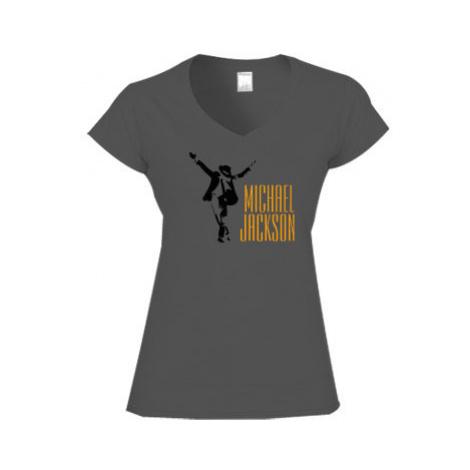 Dámské tričko V-výstřih Michael Jackson