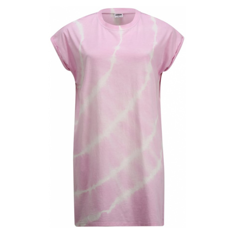 Urban Classics Curvy Šaty 'Tie Dye' pink