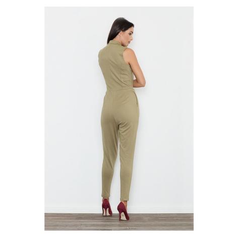 Figl Woman's Jumpsuit M433 Olive