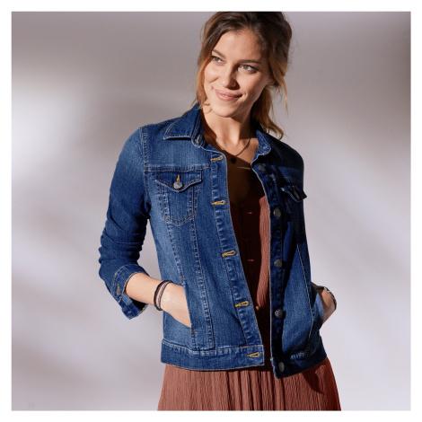 Blancheporte Džínová bunda v opraném vzhledu modrá