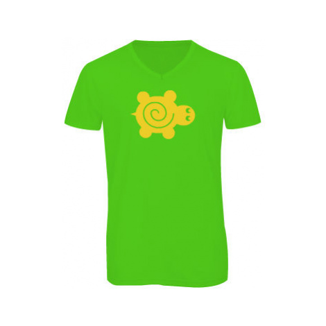 Pánské triko s výstřihem do V Želva