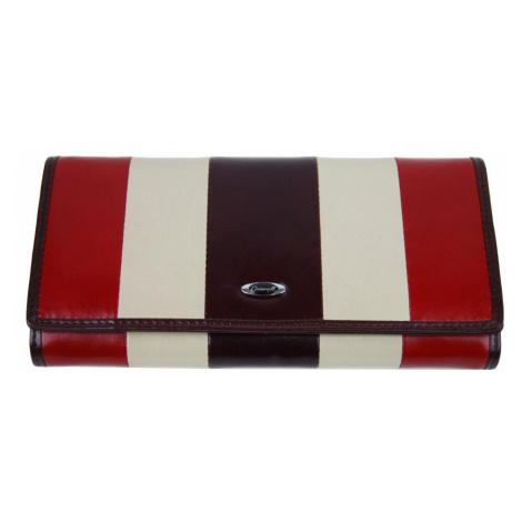 Vínová kožená dámská magnetická peněženka New Berry
