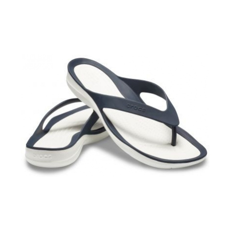 Crocs SwiftWater Flip - žabky Navy/White