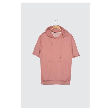 Trendyol Rose Dry Men's Regular Fit Short Sleeve Hooded Sweatshirt