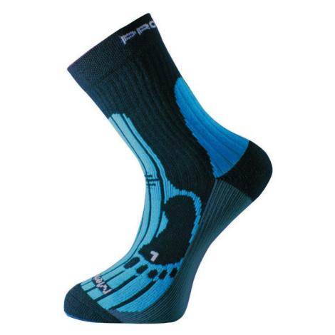Ponožky Progress MRN 8MB Merino Barva: černá/modrá /
