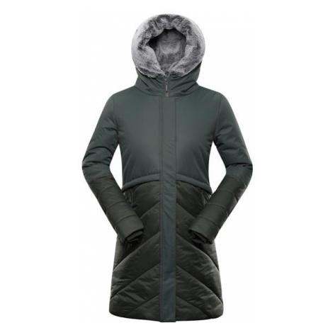 Tessa 4 zelená dámský kabát s membránou ALPINE PRO