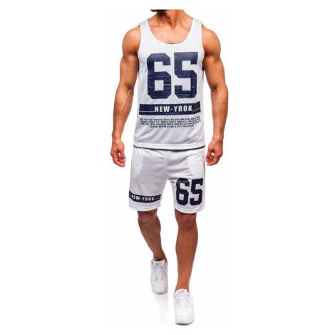Bílá pánská sada tričko + kraťasy Bolf 100777