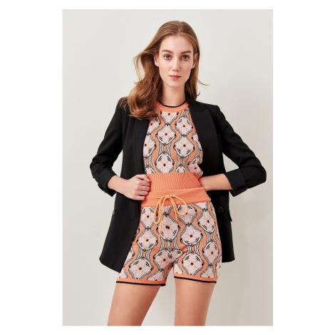 Trendyol Orange Jacquard Summer Knitted Shorts