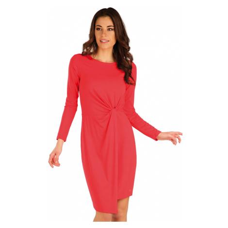 LITEX Šaty dámské s dlouhým rukávem 7A158304 lososová