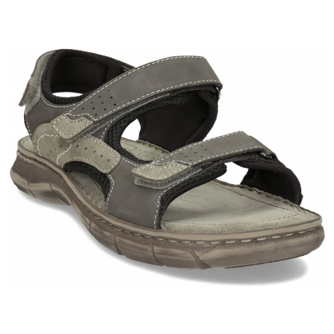 Šedé pánské kožené sandály ve sportovním střihu Weinbrenner