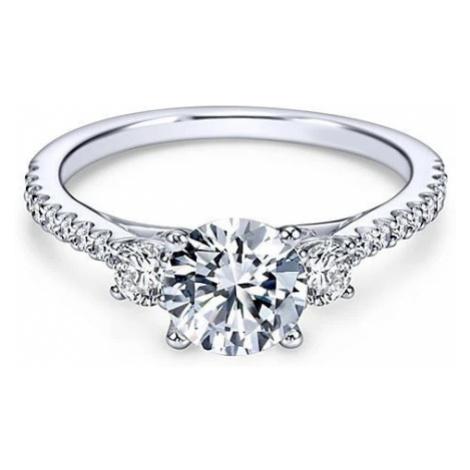 OLIVIE Zásnubní stříbrný prstýnek 4228
