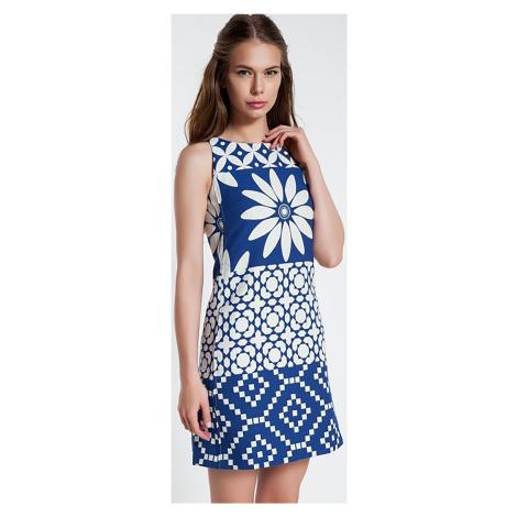 Šaty s bílým vzorováním Desigual