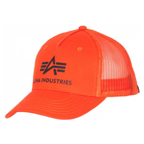 Alpha Industries Čepice Baseball Cap Basic Trucker flame orange