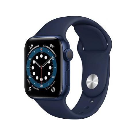 Apple Watch Series 6 40mm Modrý hliník s námořně modrým sportovním řemínkem