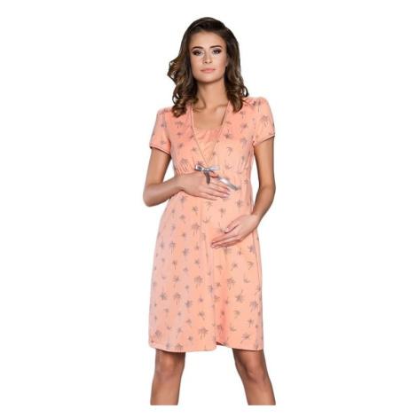 Mateřská noční košile Madera lososová Italian Fashion
