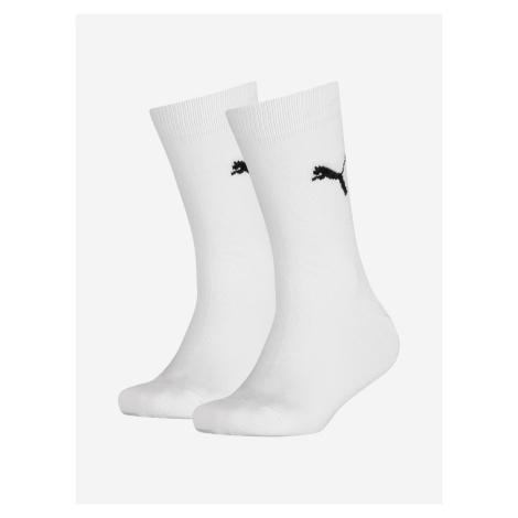Ponožky Puma Easy Rider Jr 2 Pack Bílá