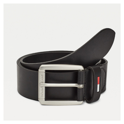 Tommy Jeans pánský černý pásek Tommy Hilfiger