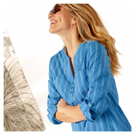 Blancheporte Pruhovaná tunika modrá/bílá