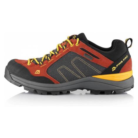 ALPINE PRO ISRAF Unisex outdoorová obuv - kevlar UBTS223424 ketchup