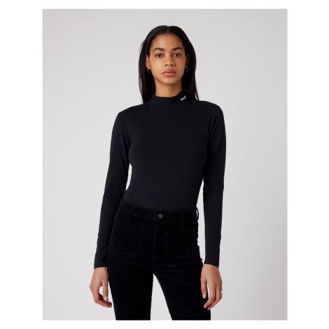 Wrangler dámské triko  HIGH NECK BABY TEE BLACK