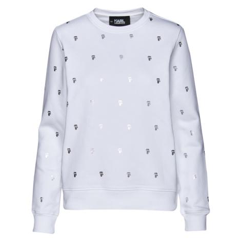 Mikina Karl Lagerfeld All-Over Ikonik Karl Sweat - Bílá