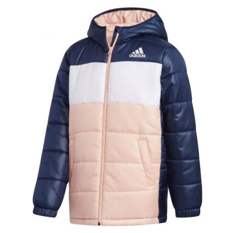 adidas YK J SYNTHETIC světle růžová - Juniorská zimní bunda