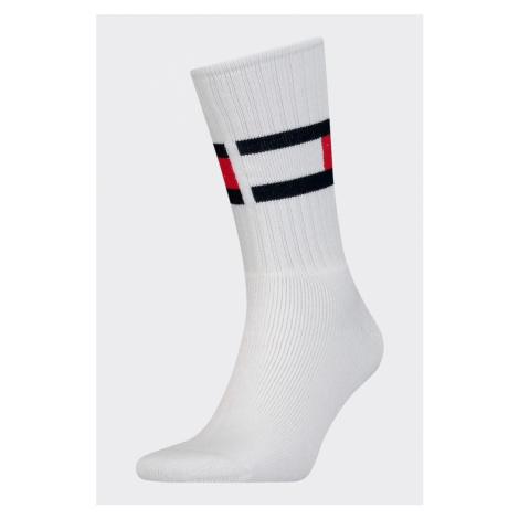 Tommy Hilfiger flag ponožky unisex - bílé