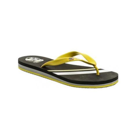 U.S Polo Assn. U.S. Polo Assn. Triker černo žluté pánské žabky Černá
