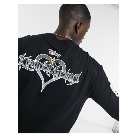 Bershka Kingdom Hearts long sleeve t-shirt in black
