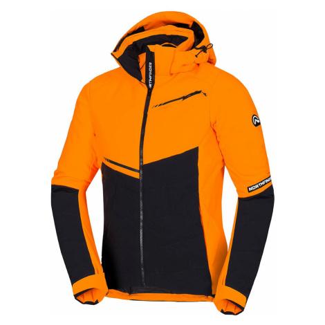 NORTHFINDER NORTHIJN Pánská lyžařská bunda BU-3795SNW170 oranžovočerná