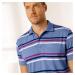 Blancheporte Pruhované polo tričko s krátkými rukávy levandulová