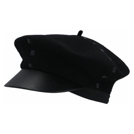 Černý vlněný baret - EMPORIO ARMANI