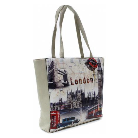 Béžová moderní dámská kabelka na rameno Londien Tapple