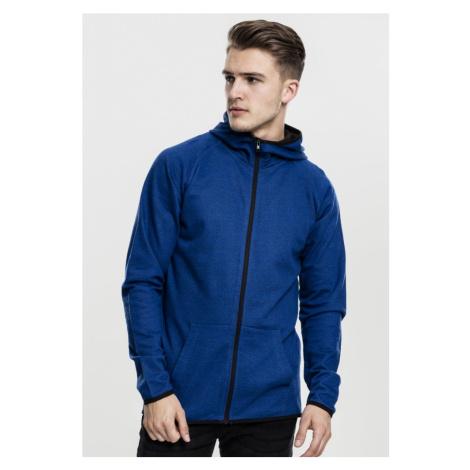 Active Melange Zip Hoody - royal blue/black Urban Classics